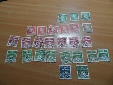 Bundle of vintage Denmark stamps