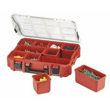 Small Parts 10 Compartment Organizer Removable Bin Tool Storage Seal Box Jobsite