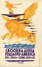 FUTURISMO CROCIERA AEREA ITALIA SUD AMERICA 1930 MORBIDUCCI SAVOIA MARCHETTI S55