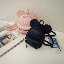 Women Leather Backpacks Cartoon Mickey Ears Fashion Mini Casual Bags Shoulder