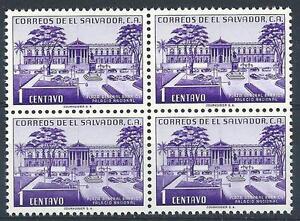 El Salvador 1954 Sc# 654 National palace block 4 MNH