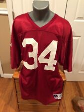 Thompson Jersey Red Nfl Russel Size 44 New Number 34 Mens White Football Athleti