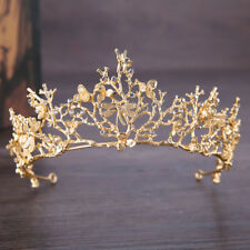 Baroque Branch Bridal Crown Rhinestone Tiara Dragonfly Hair Accessory Witty