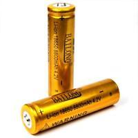 2 x Bailong gold 8800 mAh / 4,2 V Lithium - Ionen Akku Modell 18650