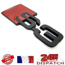 Logo S3 NOIR METAL pour Audi A3 emblem sigle badge sticker aufkleber adesivoLogo