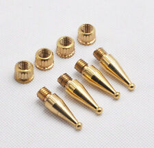 8pcs 6# M8*34 HIFI round Copper Speaker spikes Isolation Spike Stand Foot