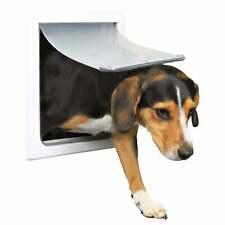 T 00004000 Rixie Small/ Medium 2-way Dog Door - White White