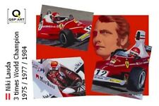 Coffee Mug Niki Lauda 3 times World Champion by Toon Nagtegaal (OE)