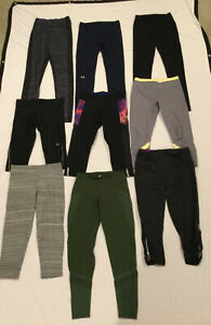 LOT OF 9 Under Armour Nike C9 Old Navy Women's Sz S Athletic Capris Leggings