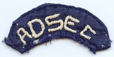 WWII Theater-Made Twill US Army Advance Sector (ADSEC) Arc