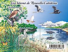 New Caledonia 2015 - Les hérons de Nouvelle-Calédonie souvenir sheet mnh