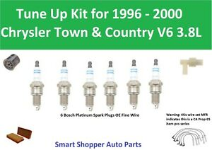 1996 1997-2000 Chrysler Country &Town V6 3.8 Tune Up Spark Plug Wire Set, Filter
