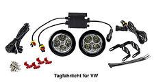 LED Tagfahrlicht 8 SMD rund Ø70-90mm E-Prüfzeichen R87 DRL 6000K E4 für VW TFL2