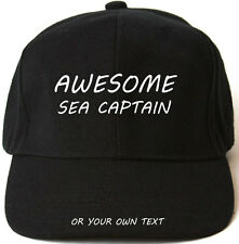 AWESOME SEA CAPTAIN PERSONALISED BASEBALL CAP HAT XMAS GIFT boating canal barge