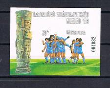 Ungarn 1986 Block 183 B Ungezahnt WM Fussball postfrisch
