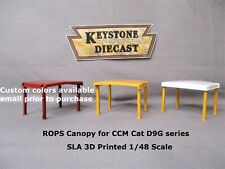 SLA 3D Printed ROPS Canopy for CCM Cat D9G series 1/48 scale Caterpillar