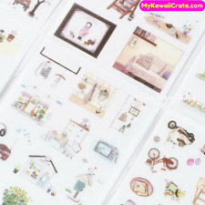 Zakka Leisure Time Deco Stickers ~ Kawaii DIY Scrapbook Planner Journal Sticker