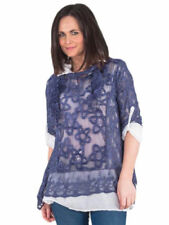Maglie e camicie da donna camicetta Blu Floreale
