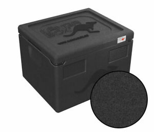 Thermobox KÄNGABOX® Warmhaltebox Isolierbox Kühlbox GN 1/2 - 19 Liter, schwarz