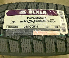 4 New 235 70 16 Nexen Win Guard Win Spike SUV Studdable Snow Tires