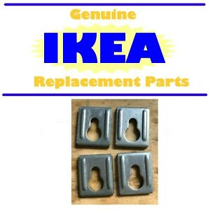 Lot of 4 Genuine IKEA Keyhole Brackets, Part # 103693