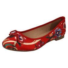 Scarpe da donna rossi da infilare piatto ( meno di 1,3 cm )