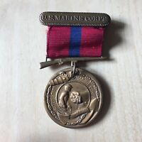 WWII-US Marine Corps Vintage USMC Good Conduct Military Uniform Medal WWI