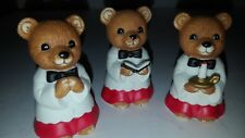 Set/Lot of 3 Choir Boy Homco Bears # 5100 Christmas or Religious New in box