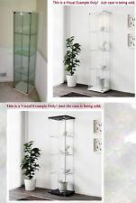 Detolf ☆ Glass Door Cabinet ☆ Curio Display ☆ White or Black ☆ BIG PICS!