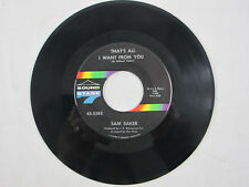 """Sam Baker Vinyl 7"""" 45 RPM Sound Stage Seven Records All I Want Turn Her Loose"""