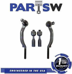 4 Pc Steering Kit For Chevy Trailblazer GMC EnvoyAll Inner Outer Tie Rod Ends 1Y