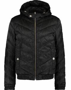 Versus Versace men's black jacket - Down, Reversible, Hooded, Lion's head theme