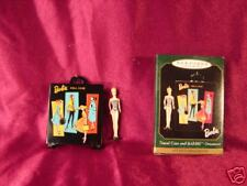 1999 Hallmark Barbie Doll Ornament With Travel Case