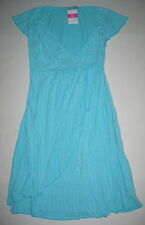 FRESH PRODUCE Medium Delray Ocean Blue C'est La V Cafe Wrap Dress $85 NWT New M
