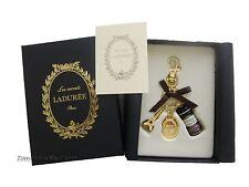 LADUREE Paris Key Chain Key Ring Macaron Effiel Tower Brown Black New