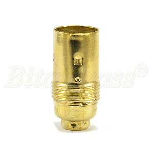 Quality Brass Plated Plain SES (E14) Candle Lampholder 10mm Entry
