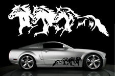 Horse Horses Decal Truck Trailer Car Graphic 10x32 THb - WHITE