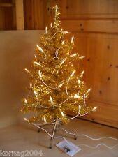 Weihnachtsbäume Gold 2er Set mit Beleuchtung  + Metallständer 90 cm
