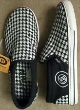 Etnies Black White Houndstooth Multi Color Tennis Shoes NIB Women's Size 10