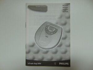 Bedienungsanleitung für Philips AZ7680, AZ7681, AZ7682 und AZ7688 CD Player