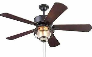 New! Harbor Breeze Merrimack II 52-Inch Matte Bronze Indoor/Outdoor Ceiling Fan