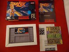 Star Fox (Super Nintendo SNES 1993) COMPLETE w Box manual game WORKS! Starfox M1