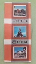 altes Reise Prospekt Balkantourist Bulgaria / Sofia, um 1970 (englisch)
