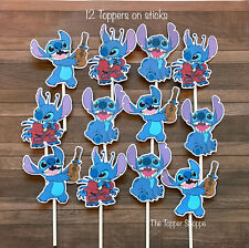 12- LILO AND STITCH Cupcake Toppers / Cake Toppers / Birthday Party Decorations