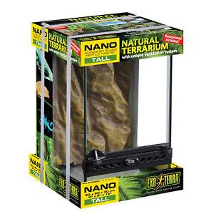 "Exo Terra Nano Tall Terrarium - 20 x 20 x 30cm / 8"" x 8"" x 12"" (WxDxH)"