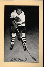 1944-63 BEEHIVE GROUP 2 PHOTOS   AB MCDONALD CHICAGO BLACK HAWKS EX-MT F2524