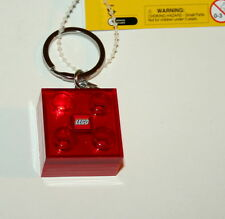 Lego Flashing Key chain LEDkey Light Red Block NOS New Box 2010