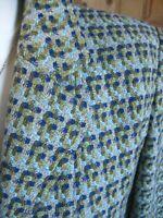 Ladies vintage TALBOTS TWEED WOOL JACKET BLAZER UK 14 16 riding green teal blue