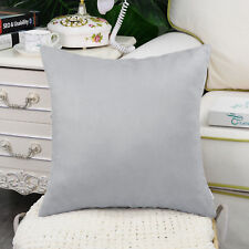 Faux Suede Cushion Covers Pillows Protectors Solid Poly Sofa Home Decor 45x45cm