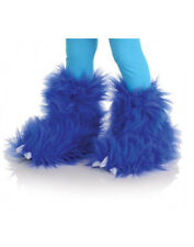 Blue Monster Fuzzy Furry Boots Kids Animal Halloween Costume Shoes